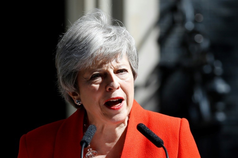 Theresa May le 24 mai 2019 à Londres