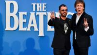 Les ex-Beatles Paul McCartney (d) et Ringo Starr, le 15 septembre 2016 à Londres