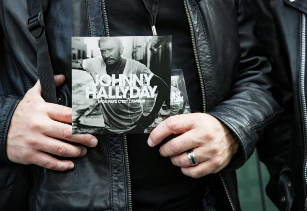 L'album posthume de Johnny Hallyday photographié le 15 octobre 2018 à Paris