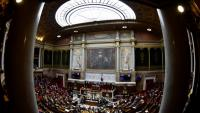 L'Assemblée nationale à Paris le 14 mars 2018