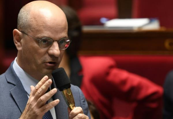 Le ministre de l'Education Jean-Michel Blanquer le 17 octobre 2018 à l'Assemblée nationale à Paris