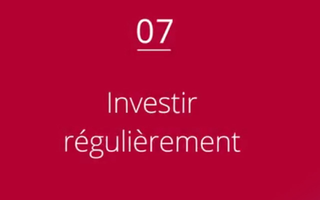 Investir régulièrement